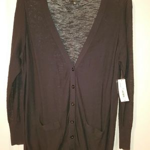 1X Black cardigan long sleeve